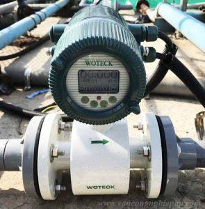 Đồng hồ nước điện tử khi lắp đặt ngoài trời
